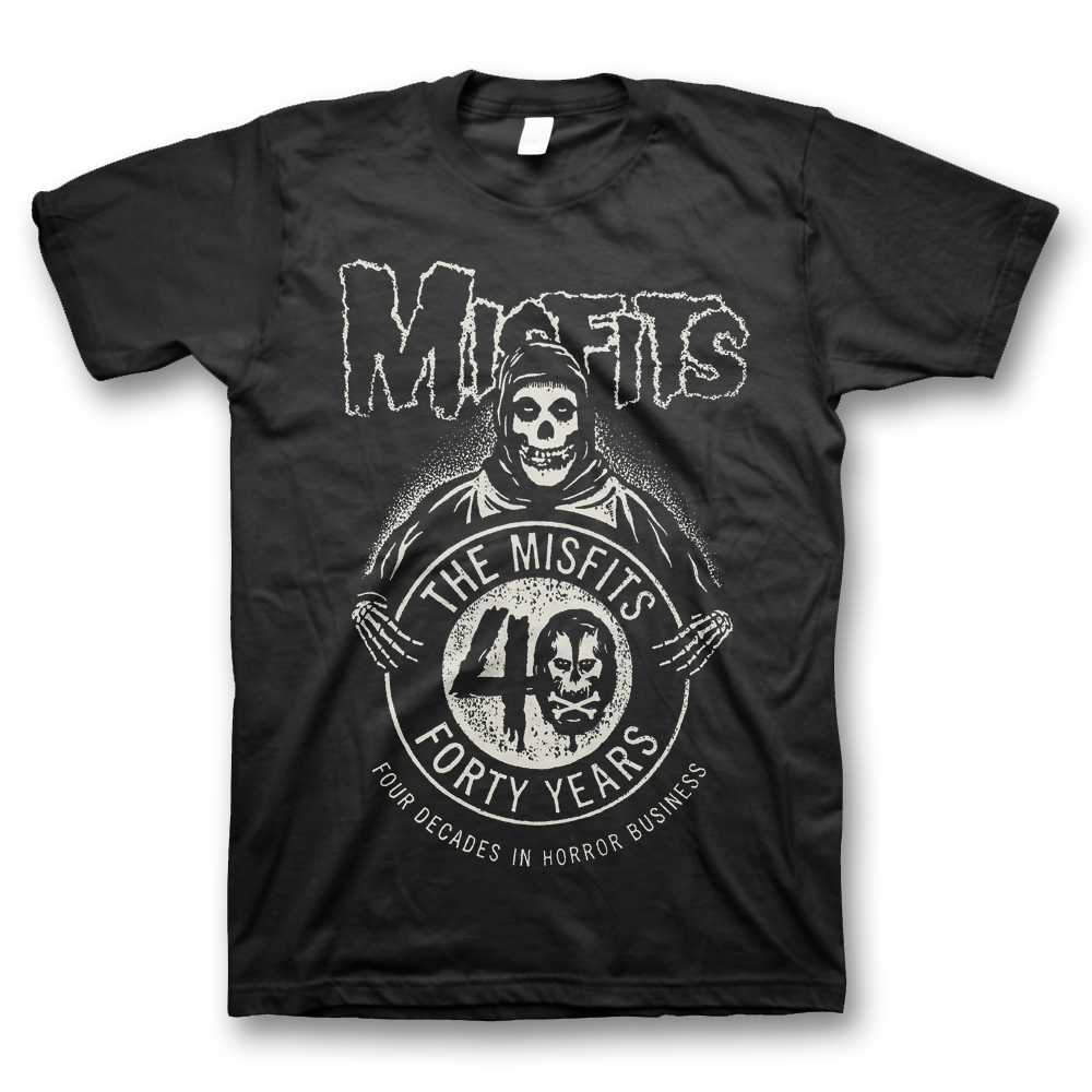 80f05ab0 Get the all-new Misfits 40th Anniversary Logo designed by Shepard Fairey  (Obey Giant) on a classic black unisex tee before its available in any  store!