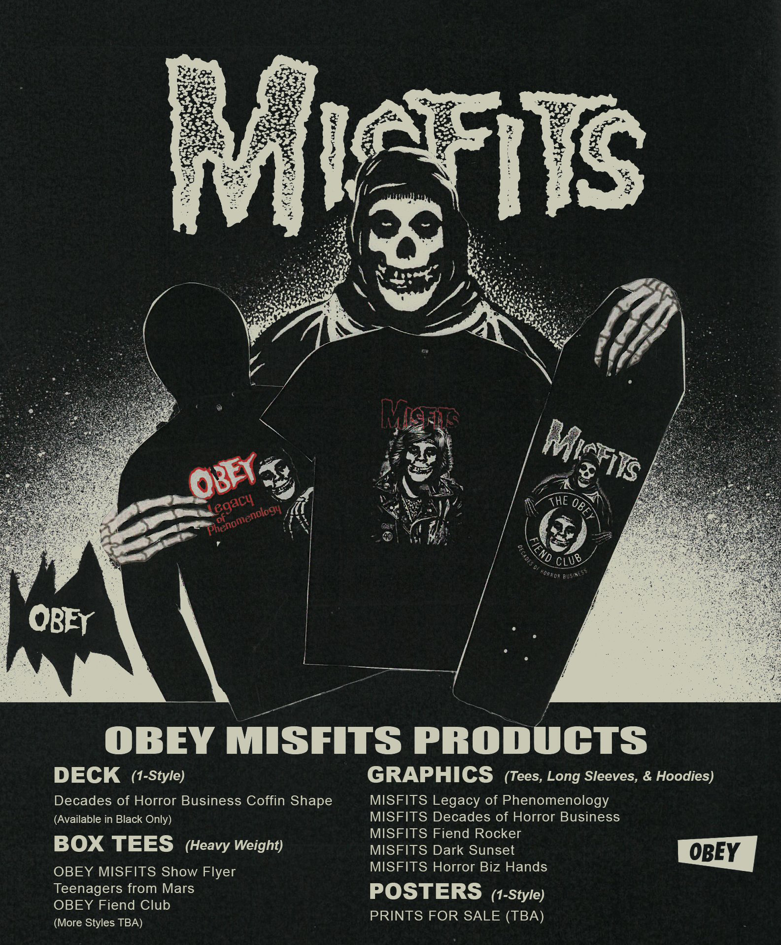 Official Misfits News Obey Short Circuit Tshirt X Collectionout Now